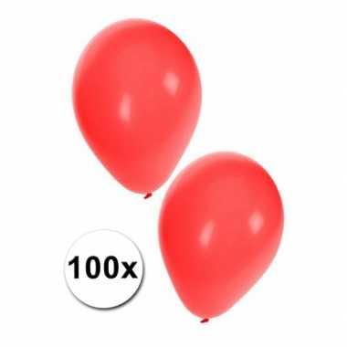 Carnavals ballonnen rood 100 stuks