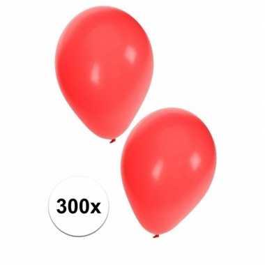 Carnavals ballonnen rood 300 stuks