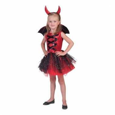 Carnavals jurk duivel zwart en paars