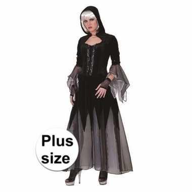 Carnavals jurk vampier zwart en grijs