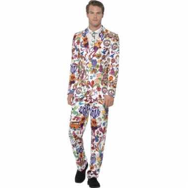 Carnavalskleding heren kostuum hippie print