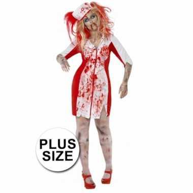 Carnavalskostuum zombie grote maat