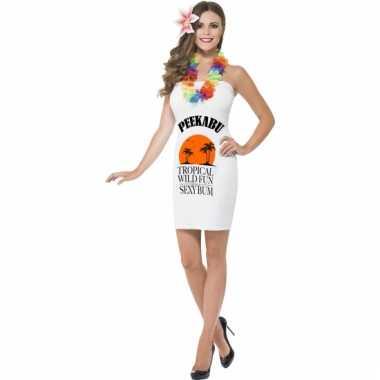 Carnavalskostuums dames wit peekabu