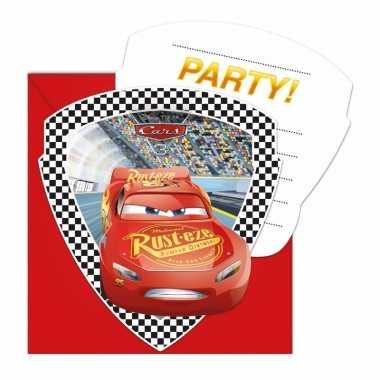 Cars uitnodigingen 6 stuks