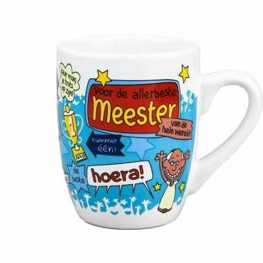 Cartoon mok 'meester'