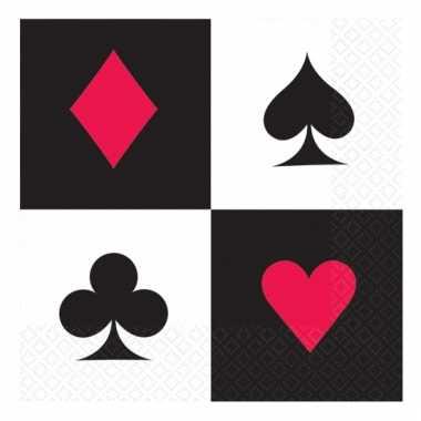 Casino thema servetten 16 stuks