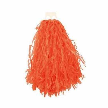 Cheerleader pompoms oranje 28 cm