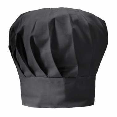 Chef muts zwart voor volwassenen