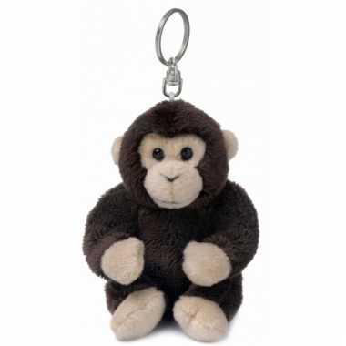 Chimpansee knuffeltje aan sleutelhanger