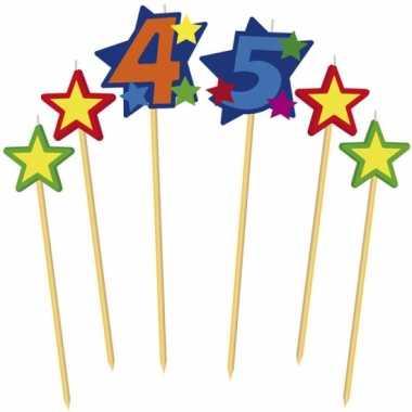 Cijfer kaarsjes op prikker 45