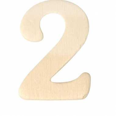 Cijfers 2 van hout