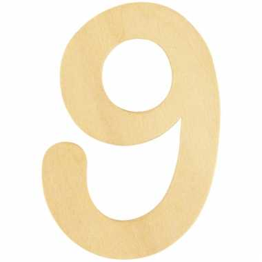 Cijfers 9 van hout