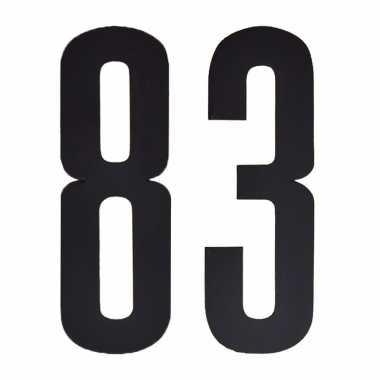 Cijfers / nummers stickers 83
