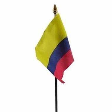 Colombiaanse landenvlag op stokje