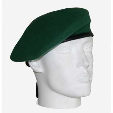 Commando groen soldaat baret