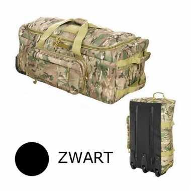 Commando trolley tas zwart 80 cm