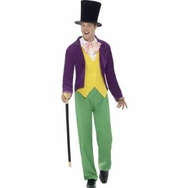Compleet willy wonka kostuum
