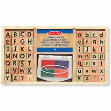 Complete alfabet stempelset