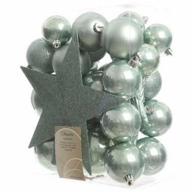 Complete kerstboomversiering mint