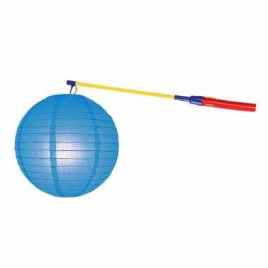 Complete lampionset blauw 25 cm