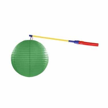 Complete lampionset groen 25 cm