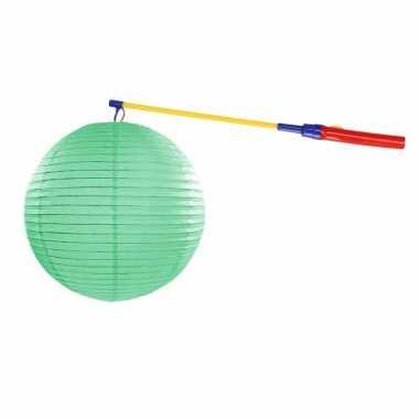 Complete lampionset mint groen 35 cm