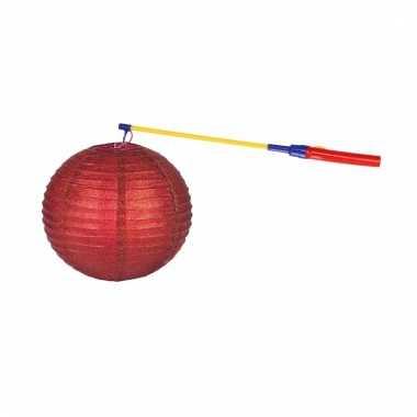Complete lampionset rood 25 cm
