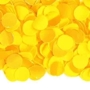 Confetti in de kleur geel 100 gram