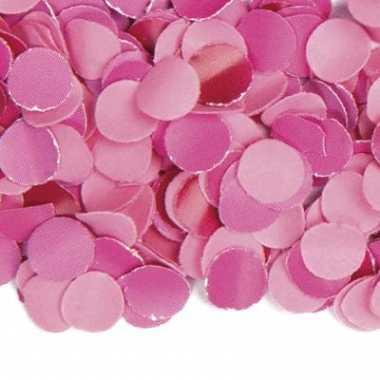 Confetti in de kleur roze 100 gram