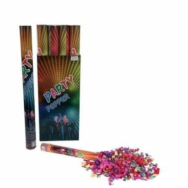 Confetti popper kleuren 60 cm