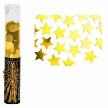 Confettikanon gouden glitters