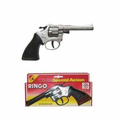 Cowboy pistool zilverkleurig