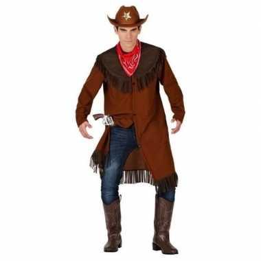 Cowboy/western jas verkleed kostuum voor heren