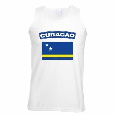 Curacao vlag singlet wit heren