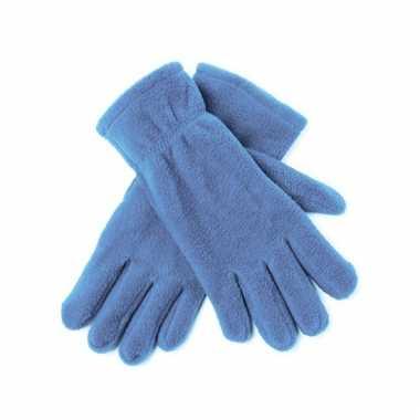 Dames fleece handschoenen lichtblauw