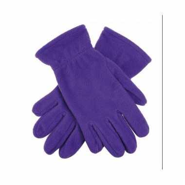 Dames fleece handschoenen paars