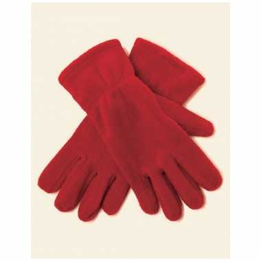 Dames fleece handschoenen rood