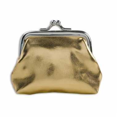 Dames knip goudkleurig 9.5 x 7.5 cm