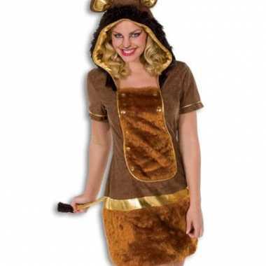 Dames kostuum leeuw kleur bruin