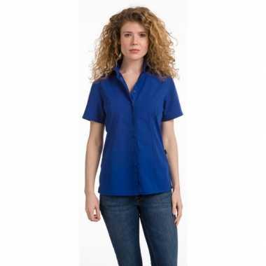 Dames overhemd blauw van l&s