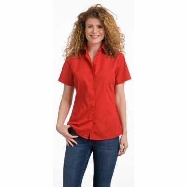 Dames overhemd rood van l&s