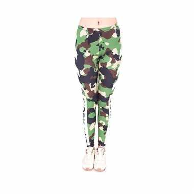 Dames party legging camouflage print