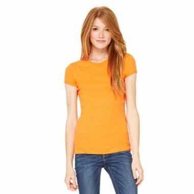 Dames t-shirtjes skinny hanna oranje
