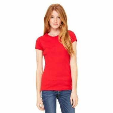 Dames t-shirtjes skinny hanna rood
