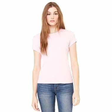Dames t-shirtjes skinny hanna roze