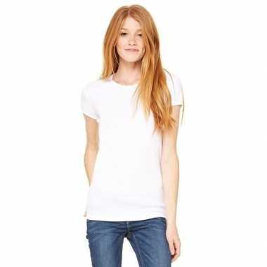 Dames t-shirtjes skinny hanna wit