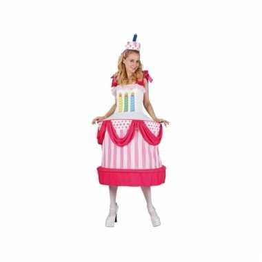 Dames taart verkleedoutfit met cape