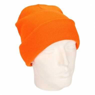 Dames winter muts oranje