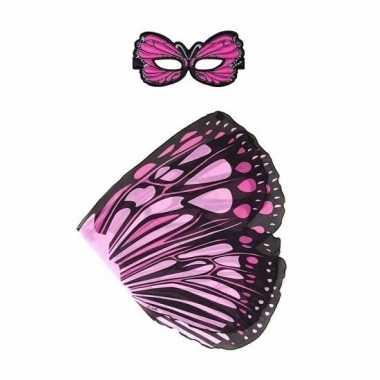 Dans monarch roze vlindervleugels voor kinderen