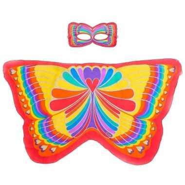 Dans regenboog rode vlindervleugels voor kinderen
